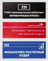 Офисные таблички ПВХ